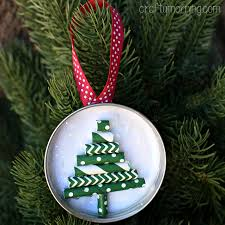 jar lid ornament straw tree crafty morning