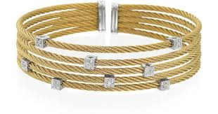 stainless gold bracelet images Lyst alor classique diamond stainless steel and 18k gold jpeg