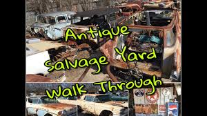 car junkyard near me antique car salvage yard walk through