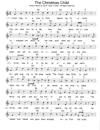the christmas child song pdf music midi u0026 mp3