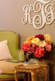 monogram guest book home interior design 2015 wall decor initials