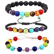 balance bracelet energy images Pusheng chakra bracelets set beaded lava rock stone healing jpg