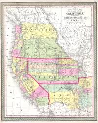State Of New Mexico Map by File 1853 Mitchell Map Of California Oregon Washington Utah