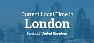 Uk Time Zone Map by Current Local Time In London England United Kingdom
