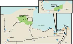 Holland Michigan Map by Brimley State Parkmaps U0026 Area Guide Shoreline Visitors Guide