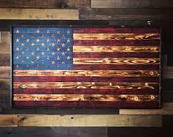 wooden flag etsy