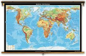Physical Maps Klett Perthes Extra Large World Physical Map 106