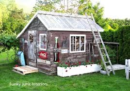 decorating the great outdoors with junk for u0027gitter done u0027 funky