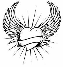 wings tattoo stencilsangel wings free tattoo stencil angel wings