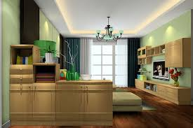 3d interior partition cabinet in the living room american country