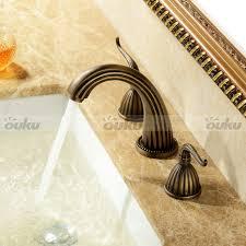 Antique Bathroom Faucets by Antique Copper Widespread Bronze Bathroom Sink Basin Faucet 2
