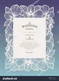 laser cut vector wedding invitation orchid stock vector 618438128