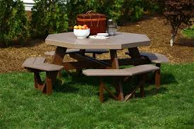 Octagon Picnic Table Plans Free Walk by Luxcraft Poly Octagon Picnic Table From Dutchcrafters Amish Furniture