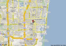 map of ft lauderdale map of hton inn ft lauderdale city center fort lauderdale