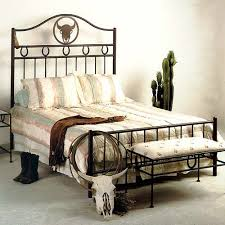 frontier western style wrought iron bed custom patterns dcg stores