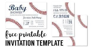 printable invitations baseball party invitations free printable paper trail design