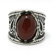 stone rings style images Fashion women mens stone ring 316l stainless steel ring new gothic jpg