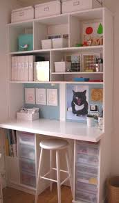 Scrapbooking Tables Desks Craft Station Simple Yet Organized Craft Inspirations