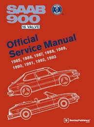 saab 900 16 valve official service manual 1985 1986 1987 1988