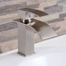 designer bathroom fixtures single handle finish chrome waterfall bathroom sink faucet