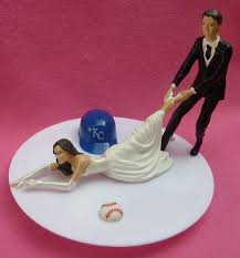 baseball cake topper wedding cake topper kansas city royals kc g baseball themed w