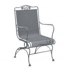 White Patio Chair Woodard Briarwood Coil High Back Patio Chair Reviews