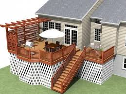 Backyard Privacy Screens Trellis Trellis And Small Pergola On One Side Of Deck For More Privacy