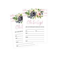 shower invitations 50 fill in floral baby shower invitations baby