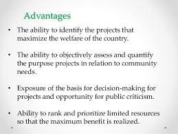 social cost benefit analysis scba