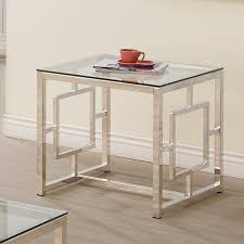 nickel plated desk l end table l table furniture living room end table