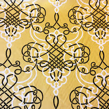 Geometric Drapery Fabric Geometric Scandinavian Modern Black And White Interlocking Designs