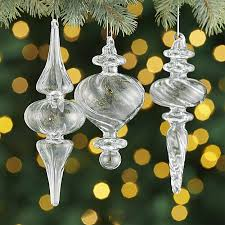 optic glass drop ornaments crate and barrel