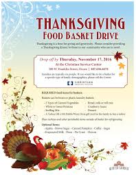thanksgiving food basket drive the winter garden experience
