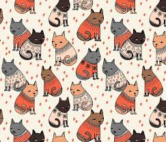 wallpaper cat illustration cats in sweaters holiday christmas sweater ugly sweater