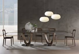Contemporary Dining Table Contemporary Dining Table Walnut Tempered Glass Round