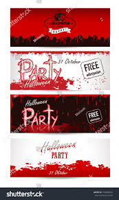halloween party invitation background halloween party poster happy holiday set stock vector 154088543