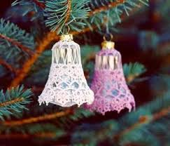 Glass Bell Christmas Ornaments - 411 best christmas bells angels crosses crochet images on