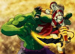 kratos hulk battles comic vine