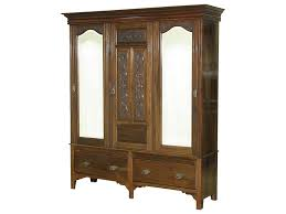 Closet Armoire Interior Consigned Antique Walnut Victorian Sectional Armoire