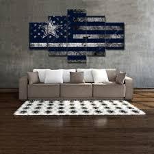 Dallas Cowboys Home Decor Dallas Cowboy American Flag Home Decor Wall Art Football Canvas