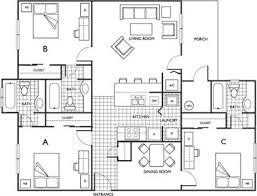 3 bed 3 bath 2 4 bed apartments the pavilion