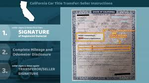Ca Vehicle Bill Of Sale by California Certificate Of Title Transfer Seller Instructions