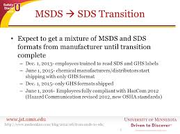 Ghs Safety Data Sheet Template Msds Vs Sds What S The Difference Ppt
