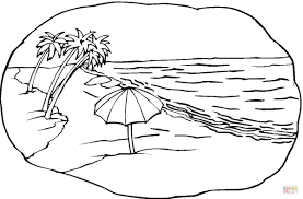 beach coloring page coloring for kids 2087