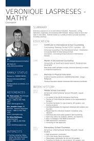 Sample Counselor Resume by Counselor Cv örneği Visualcv özgeçmiş örnekleri Veritabanı