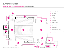 theater floor plan symphony space peter jay sharp theatre