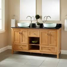 55 Inch Bathroom Vanity Double Sink Bamboo Vanities Bathroom Vanities Signature Hardware