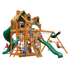 Playsets Outdoor Gorilla Playsets Sun Palace Ii Cedar Playset 01 0013 The Home Depot
