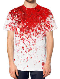 blood neck all over print t shirt death halloween dead scary