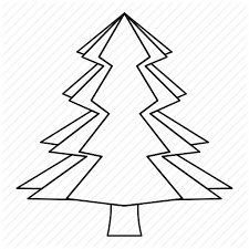 canada fir line mountain outline thin tree icon icon search